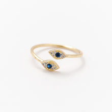 Load image into Gallery viewer, Double Mini Evil Eye Ring