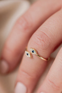 Double Mini Evil Eye Ring