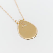 Load image into Gallery viewer, Raindrop Disc Zodiac Necklace