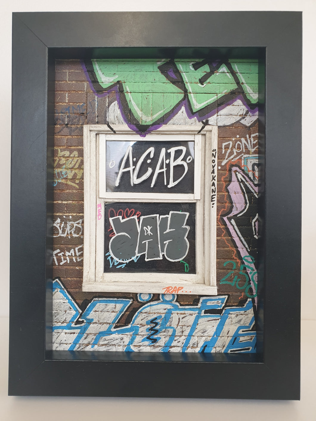 96 to go- Jerome White - ACAB Window Framed