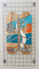 Load image into Gallery viewer, Jo Peel - Skatedeck - House on the Lake - Tree blue