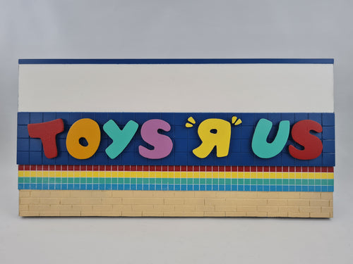 96ToGo - 'Toys R Us' sign with dark blue tiles