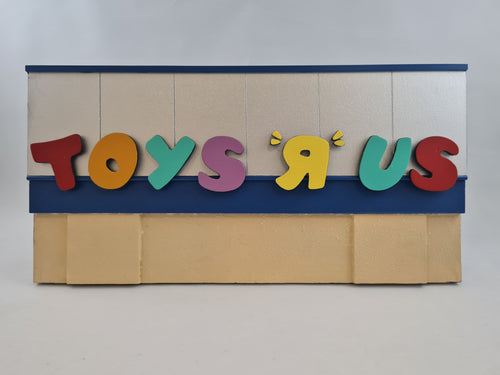96ToGo - 'Toys R Us' sign with beige background 1 of 1