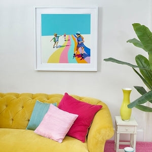 Ruth Mulvie - Skate the Rainbow - Giclee Print UNFRAMED