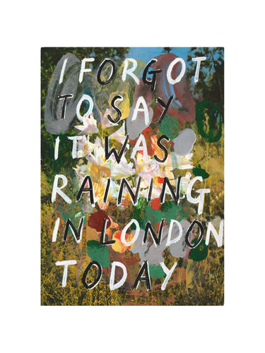 Adam Bridgland - I Forgot to Say It Was Raining in London Today