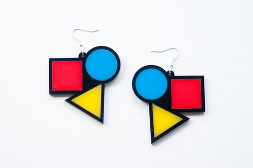 Bauhaus contemporary earrings Designosaur