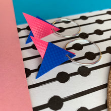 Load image into Gallery viewer, Stellen Pink and Blue Triangle Earrings
