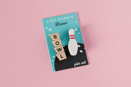 Tiny Scenic - Bowling Pin Brooch Set