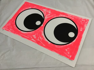 Adam Bridgland eyes fluro pink