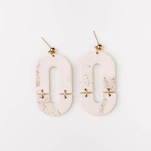 Cavas Earrings in Stone Marble - By Pepper You