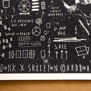 Skeleton Cardboard and Donk Collaboration - 'Best before End'