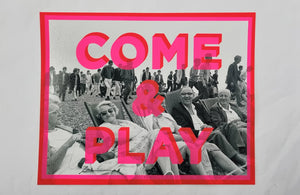Dave Buonaguidi - Come and Play screen print onto photographs from original 1964 negative