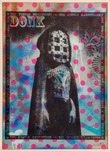 Donk - 'Ghoul' Screen print on salvaged plywood