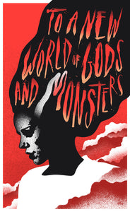 Eelus - Gods & Monsters - 4 colour screen print