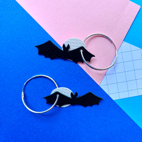 Stellen Bat Moon Earrings