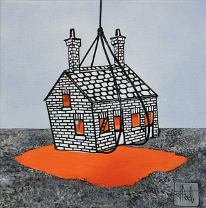 Jo Peel - House on the Lake - 12 x 12in Canvas