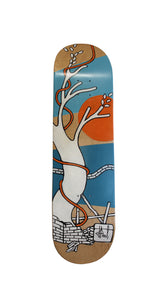 Jo Peel - Skatedeck - House on the Lake - Tree blue