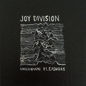 Tinsel Edwards-Joy Division- Unknown Pleasures -10x10cm original painting Framed