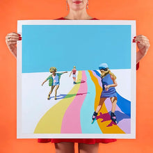 Load image into Gallery viewer, Ruth Mulvie - Skate the Rainbow - Giclee Print UNFRAMED