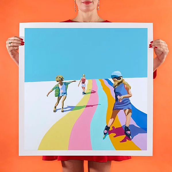 Ruth Mulvie - Skate the Rainbow - Giclee Print
