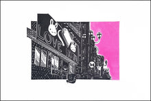 Load image into Gallery viewer, Pam Glew- Love Hotel lino print edition