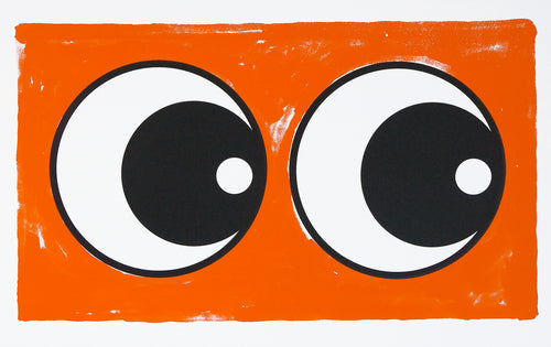 Making Eye Orange screen print - Adam Bridgland
