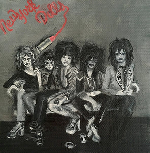 Tinsel Edwards-New York Dolls -10x10cm original painting