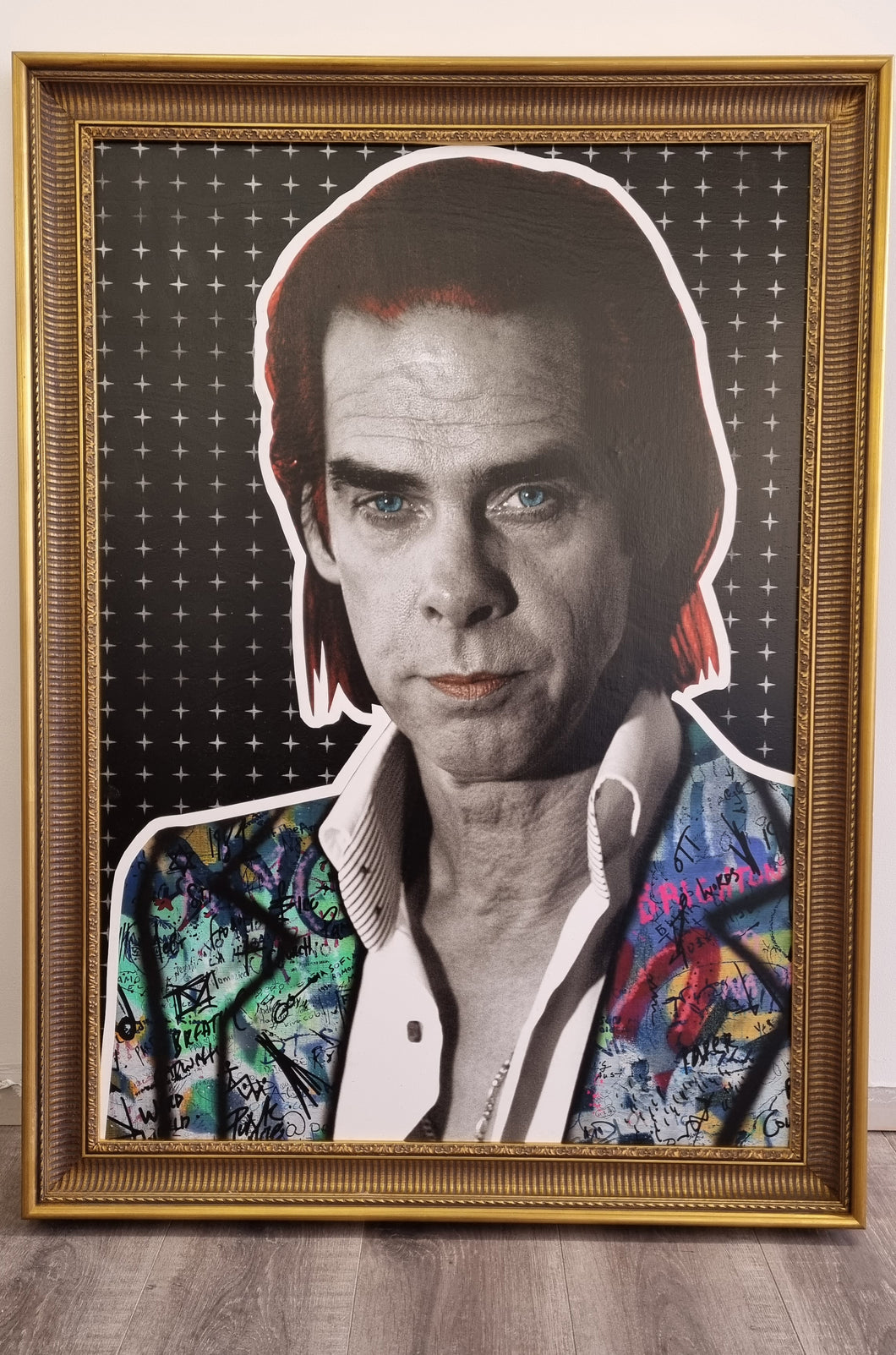 The Postman Nick Cave Original in Gold Frame