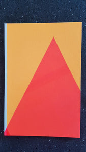 Frea Buckler - Screenprinted original one off Postcard: Orange Mountain