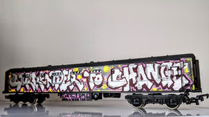 Surrender to change/Forever Forwards - Graffitied Train Carriage By Chum101