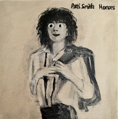 Tinsel Edwards- Patti Smith -10x10cm original