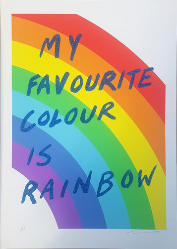 My favourite colour is rainbow - Blue glitter- Adam Bridgland