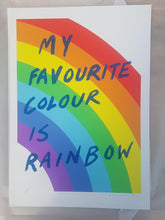 Load image into Gallery viewer, My favourite colour is rainbow - Blue glitter- Adam Bridgland