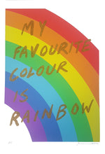 Load image into Gallery viewer, My favourite colour is rainbow - Gold glitter- Adam Bridgland