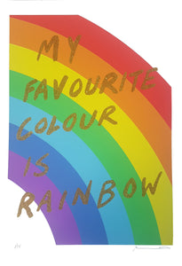 My favourite colour is rainbow - Gold glitter- Adam Bridgland