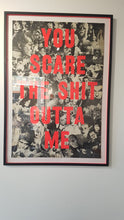 Load image into Gallery viewer, Dave Buonaguidi - 'You Scare the Shit out of me' screen print on vintage poster