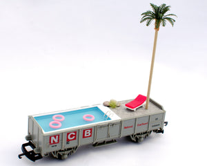 Tiny Scenic Mobile Swimming Pool - Train