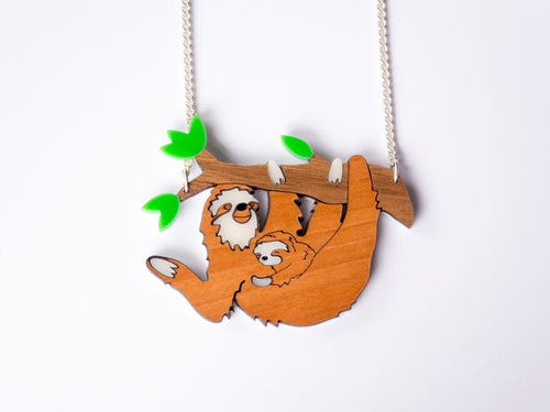 Sloth Necklace Designosaur