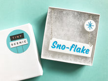Load image into Gallery viewer, Tiny Scenic - Sno flake Necklace