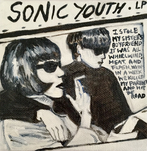 Tinsel Edwards- Sonic Youth -10x10cm original