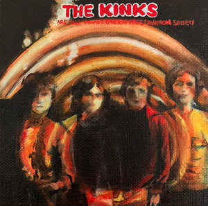 Tinsel Edwards The Kinks -10x10cm original