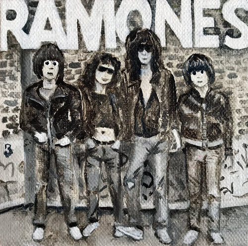 Tinsel Edwards- Ramones -10x10cm original painting