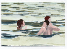 Load image into Gallery viewer, Victoria Homewood - Original Postcard: Untitled : Swimming 2020