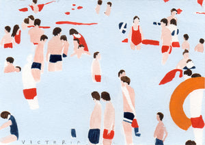 Victoria Homewood - Original Postcard: Untitled : Bathers 2020
