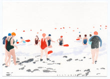 Load image into Gallery viewer, Victoria Homewood - Original Postcard: Untitled : Going in to the water 2020