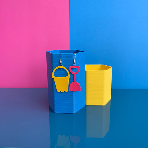 Bucket and Spade - Bouncy Castle Earrings by Stellen