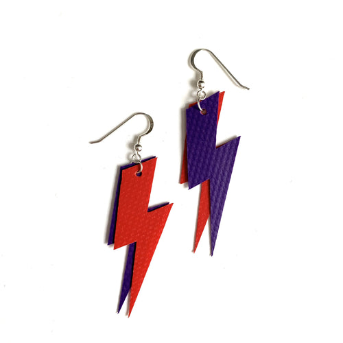 Stellen - Double Lightning Bolt - Bouncy Castle Earrings