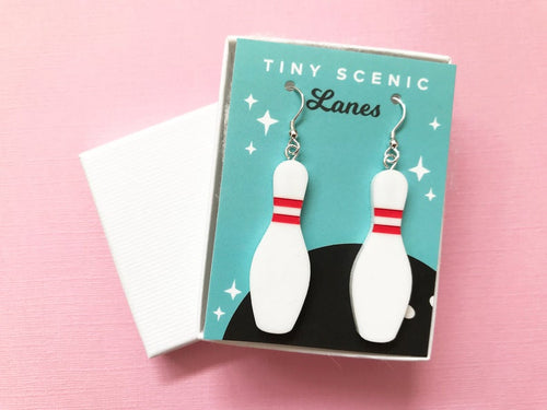 Tiny Scenic - Bowling Pin Earrings