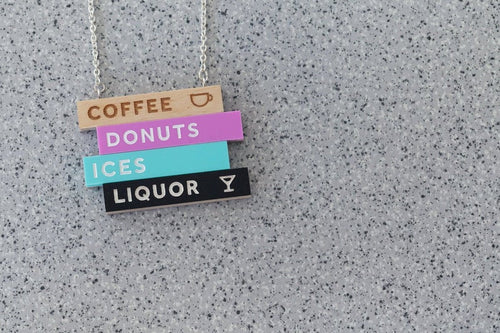 Tiny Scenic - Coffee Donuts Ices Necklace