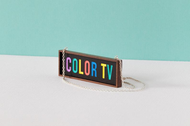 Tiny Scenic - Colour TV Necklace